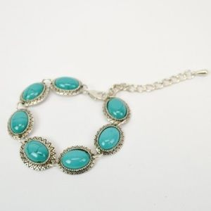 NEW in stock turquoise and alloy bracelet